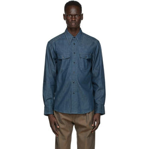 Lemaire Blue Western Shirt