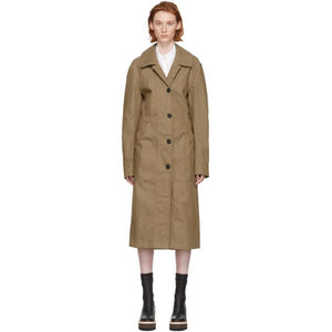 Lemaire Brown Denim Coat Dress-BLACKSKINNY.COM