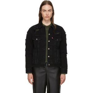 Levi's Black Ex-Boyfriend Trucker Jacket-BlackSkinny