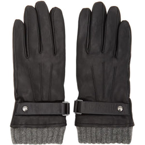 Mackage Black Lambskin Reeve Gloves