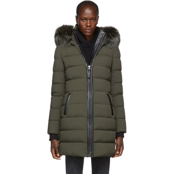 Mackage Green Calla Matte Lighweight Down Coat-BlackSkinny
