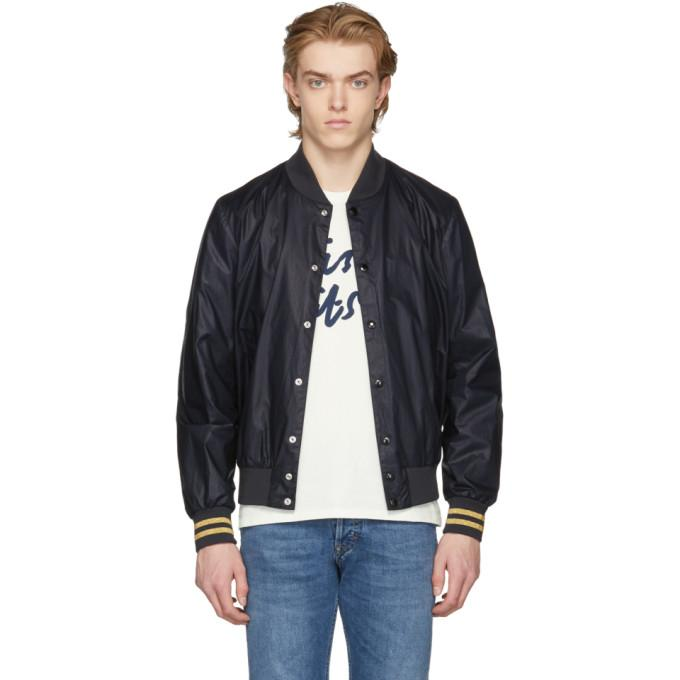 Maison Kitsuné SSENSE Exclusive Black Teddy Bomber Jacket-BlackSkinny