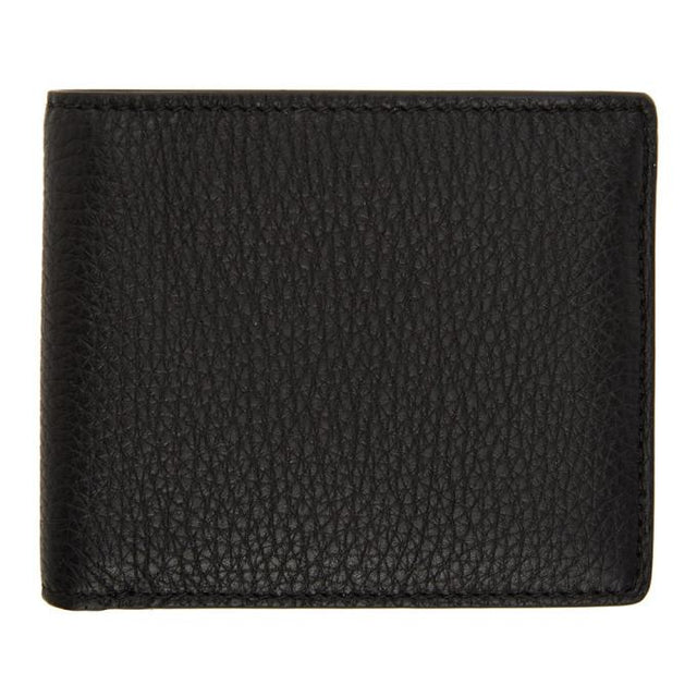Maison Margiela Black Leather Bifold Wallet