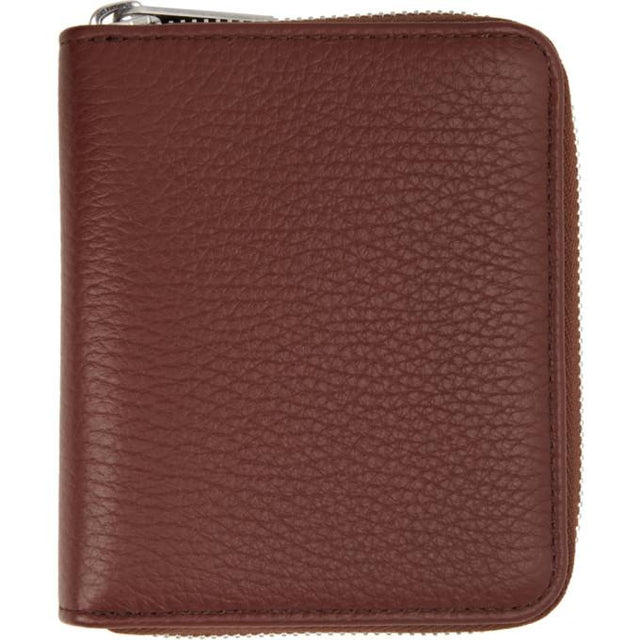 Maison Margiela Brown Leather Zip-Around Wallet