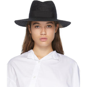 Maison Michel Black Andre Straw Hat