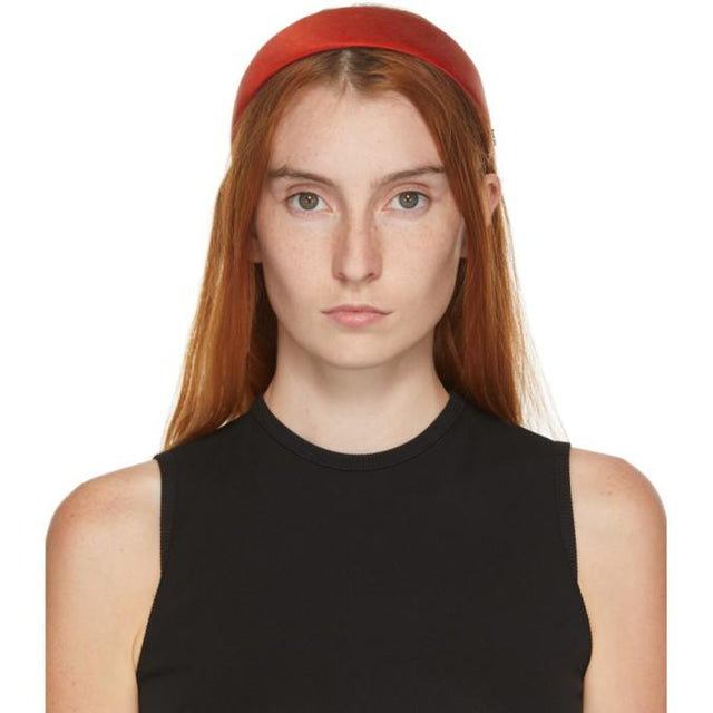 Maison Michel Red Miwa Headband