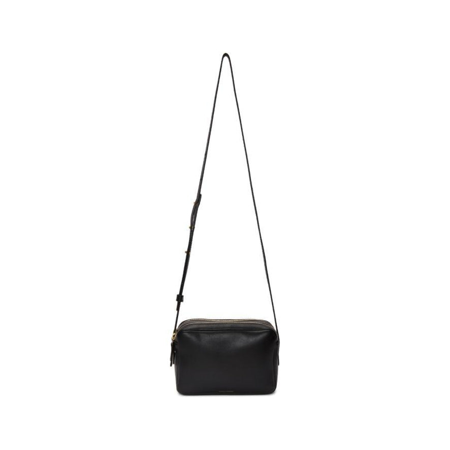 Mansur Gavriel Black Double Zip Crossbody Bag-Bags-BLACKSKINNY.COM