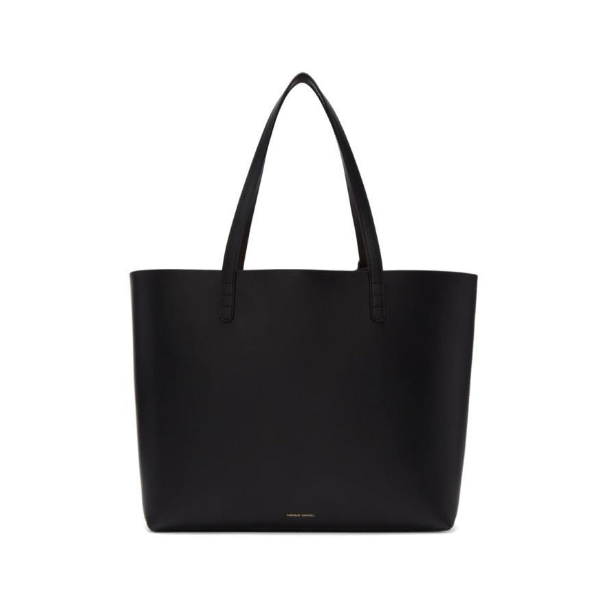 Mansur Gavriel Black Leather Large Tote-Bags-BLACKSKINNY.COM