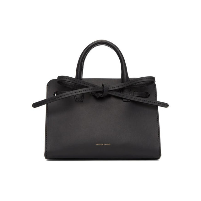 Mansur Gavriel Black Mini Mini Sun Bag-Bags-BLACKSKINNY.COM
