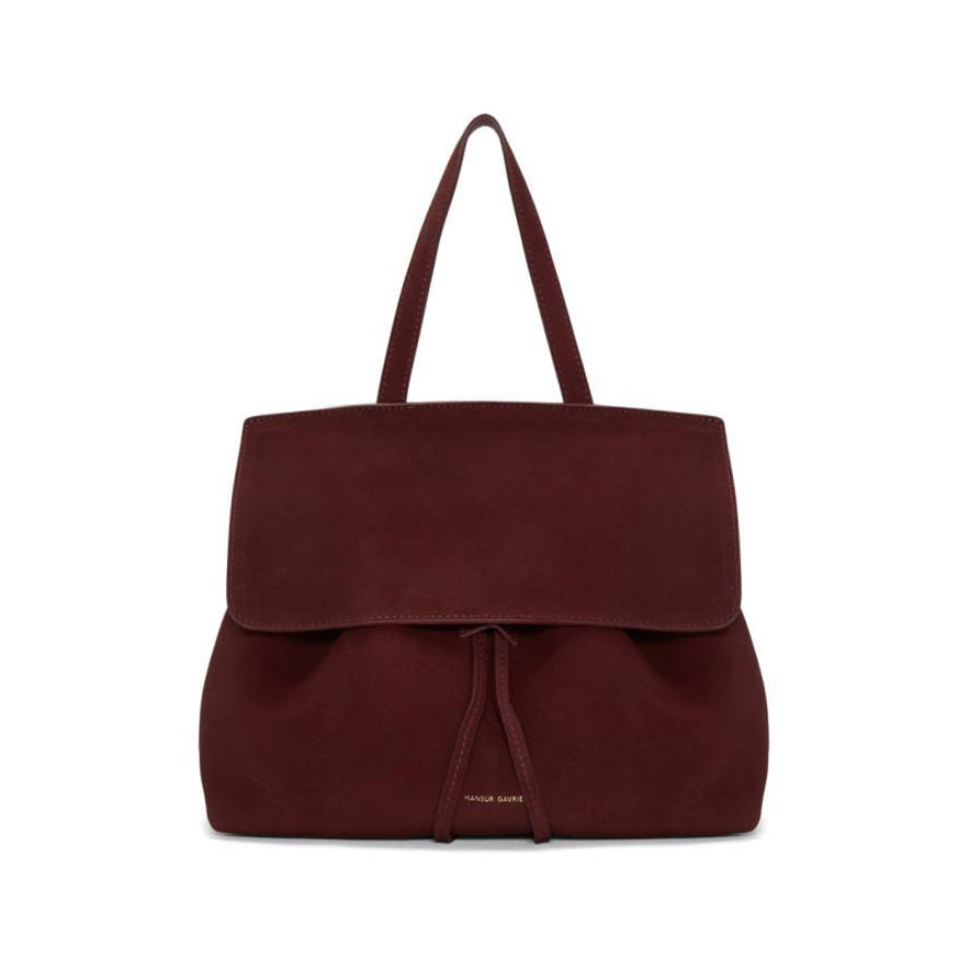 Mansur Gavriel Burgundy Suede Mini Lady Bag-Bags-BLACKSKINNY.COM