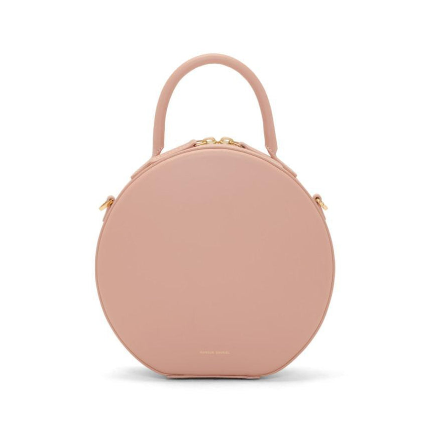 Mansur Gavriel Pink Mini Circle Crossbody Bag-Bags-BLACKSKINNY.COM