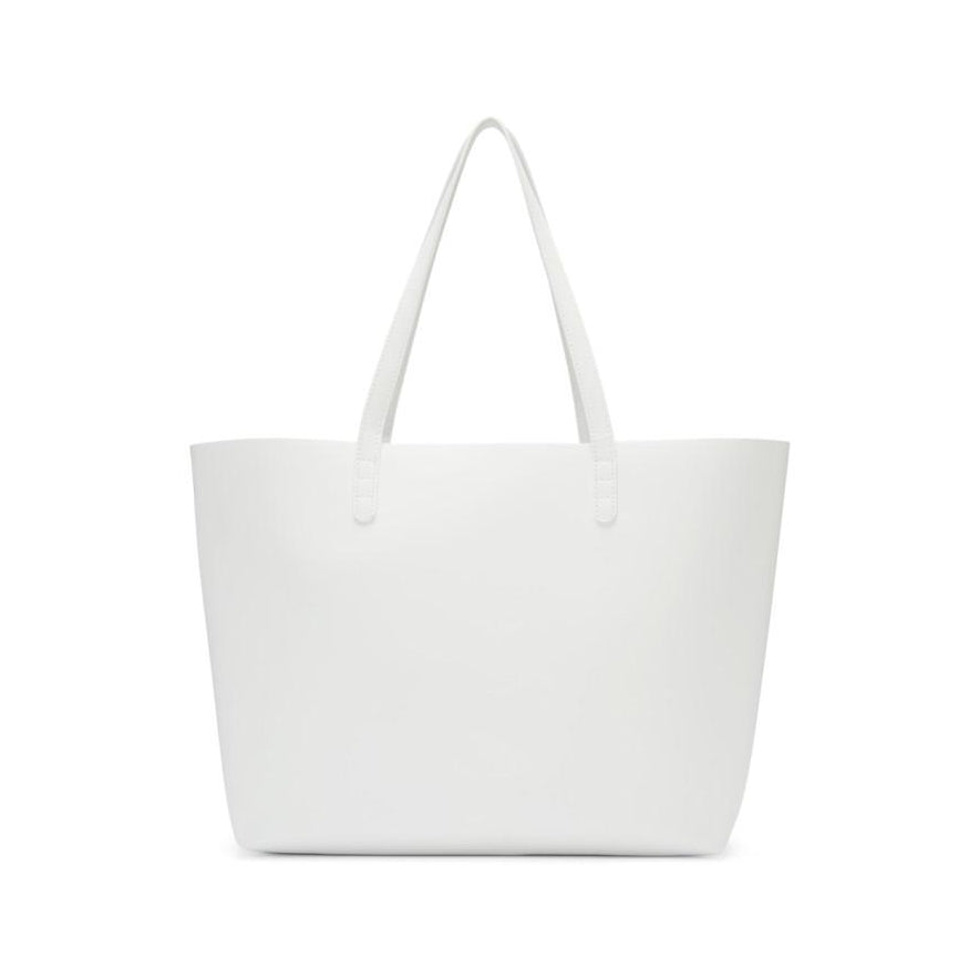 Mansur Gavriel White Leather Large Tote-Bags-BLACKSKINNY.COM