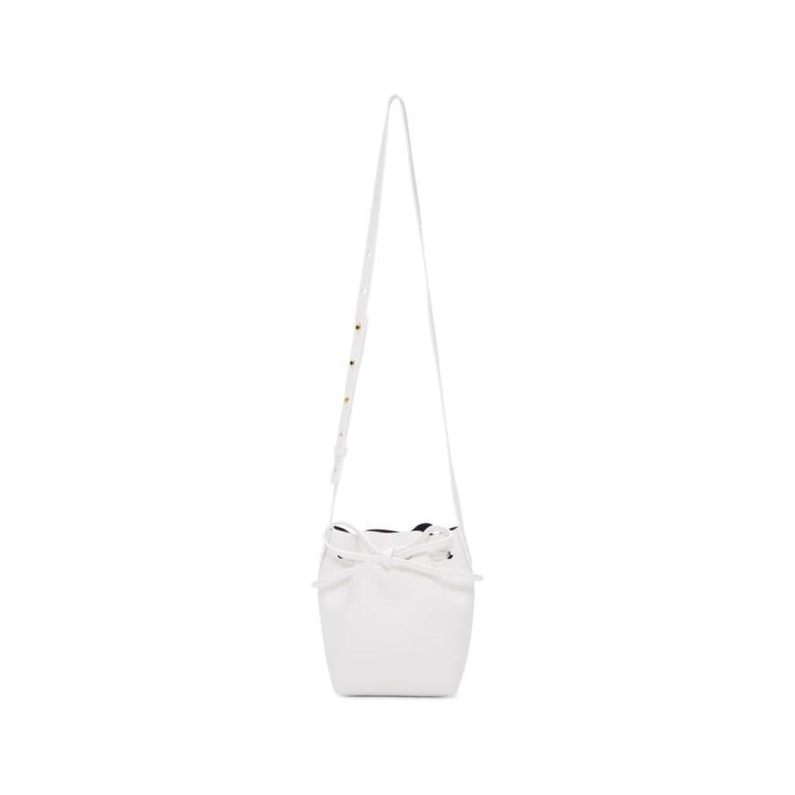 Mansur Gavriel White Mini Mini Bucket Bag-Bags-BLACKSKINNY.COM