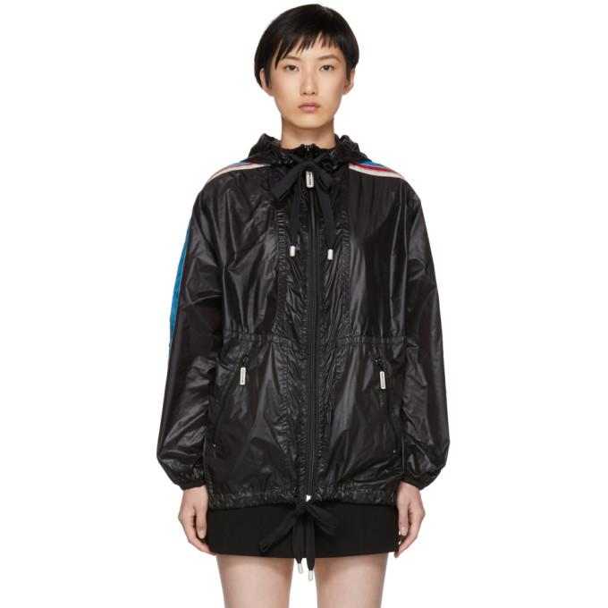 Marc Jacobs Black Nylon Hooded Windbreaker-BlackSkinny