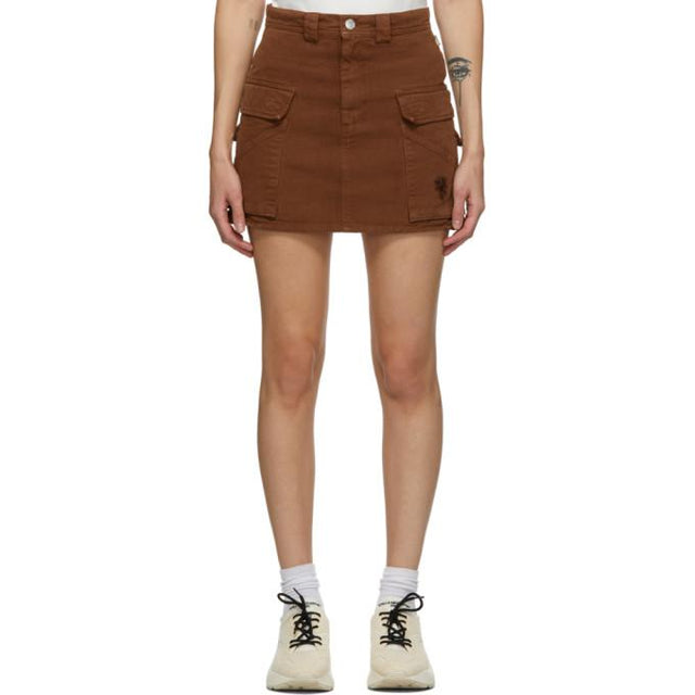 Marc Jacobs Brown Twill Pocket Skirt