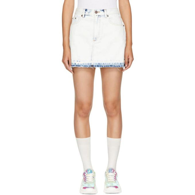 Marc Jacobs Indigo Denim Miniskirt-BLACKSKINNY.COM