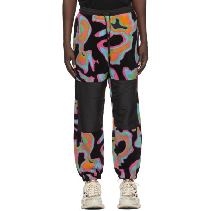 Marcelo Burlon County of Milan Black All Over Psychedelic Lounge Pants
