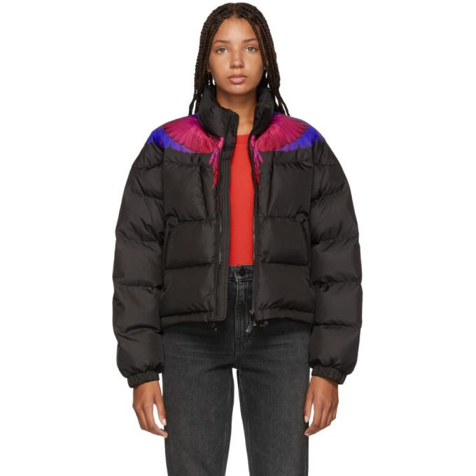Marcelo Burlon County of Milan Black Wings Down Jacket-BlackSkinny