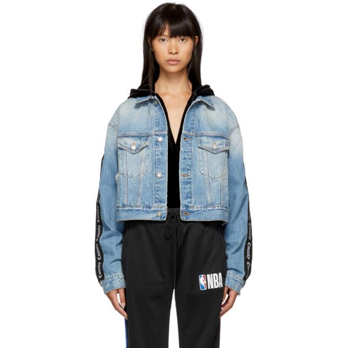 Marcelo Burlon County of Milan Blue Vintage County Jacket-BlackSkinny