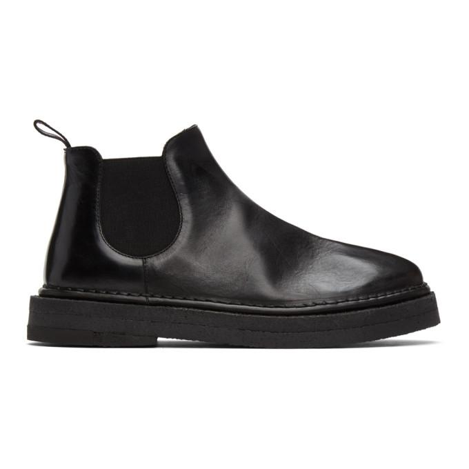Marsell Black Gomme Parapa Anfibio Boots