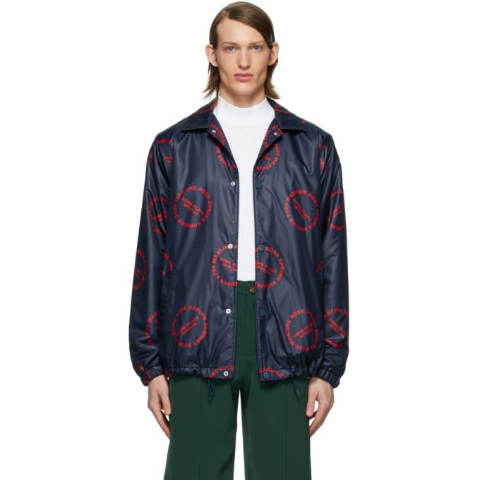 Martine Rose Navy Coach Jacket