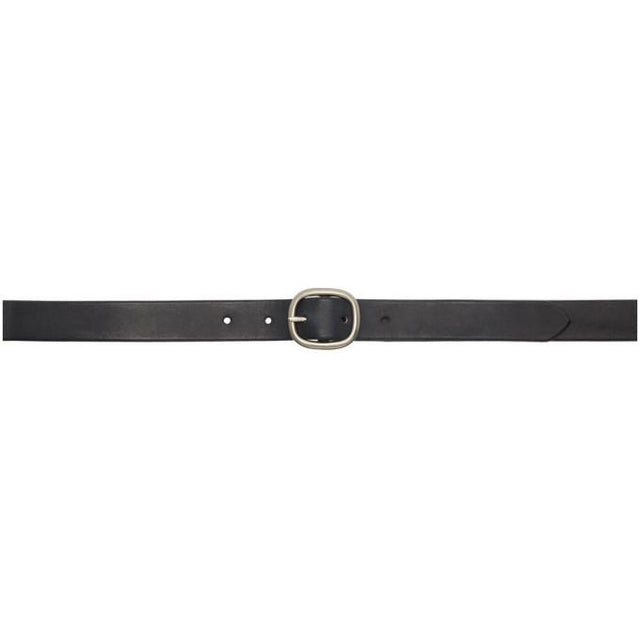 Maximum Henry Black and Silver Slim Oval Belt