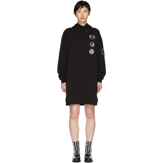 McQ Alexander McQueen Black Hoodie Dress-BLACKSKINNY.COM