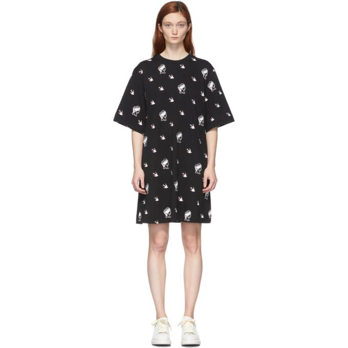 McQ Alexander McQueen Black McQ Swallow T-Shirt Dress