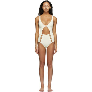 Medina Swimwear Off-White Medusa One-Piece Swimsuit