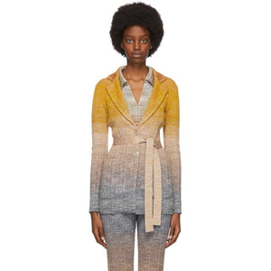 Missoni Multicolor Lame Gradient Wrap Blazer