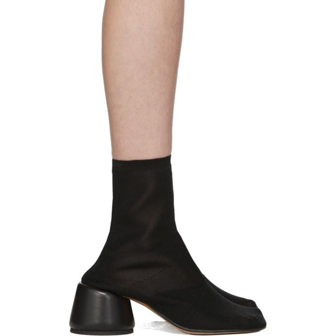 MM6 Maison Margiela Black Thin Sock Boots