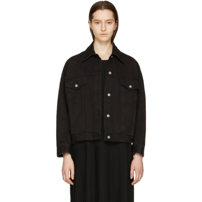 MM6 Maison Martin Margiela Black Denim Just Wash Jacket-Jackets & Coats-BLACKSKINNY.COM