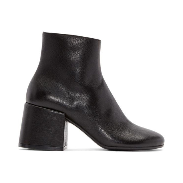 MM6 Maison Martin Margiela Black Leather Boots-BLACKSKINNY.COM