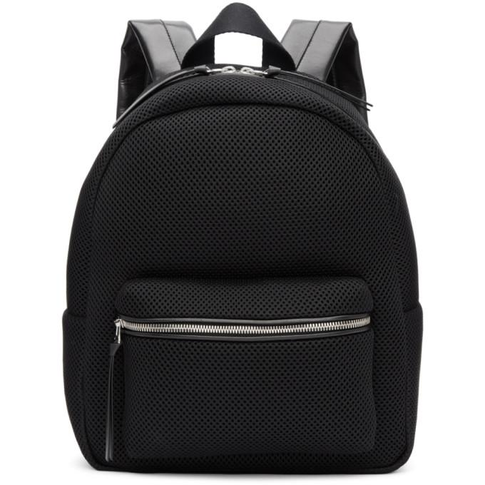 MM6 Maison Martin Margiela Black Mesh Backpack-Bags-BLACKSKINNY.COM