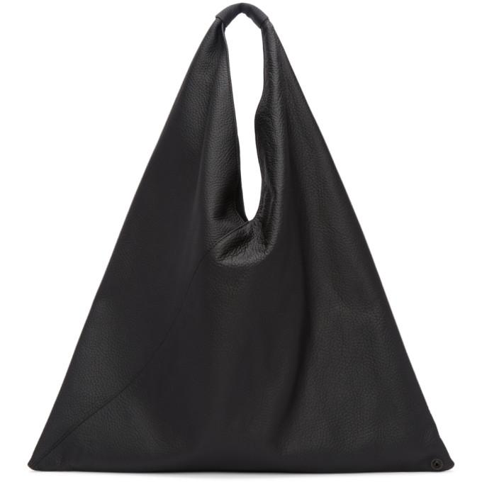 MM6 Maison Martin Margiela Black Regular Leather Tote-Bags-BLACKSKINNY.COM