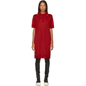 MM6 Maison Martin Margiela Red Polo Dress-BLACKSKINNY.COM