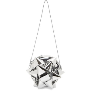 MM6 Maison Martin Margiela Silver Bow Shoulder Bag-Bags-BLACKSKINNY.COM