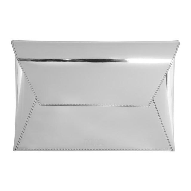 MM6 Maison Martin Margiela Silver Fold Over Clutch-Bags-BLACKSKINNY.COM
