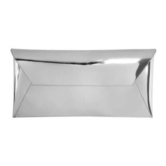 MM6 Maison Martin Margiela Silver Long Fold Over Clutch-Bags-BLACKSKINNY.COM