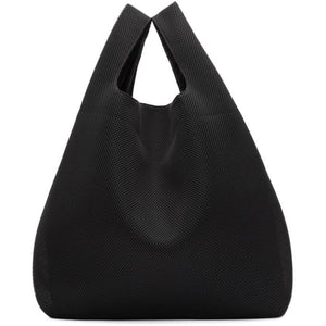 MM6 Maison Martin Margiela SSENSE Exclusive Black Mesh Shopping Tote-Bags-BLACKSKINNY.COM