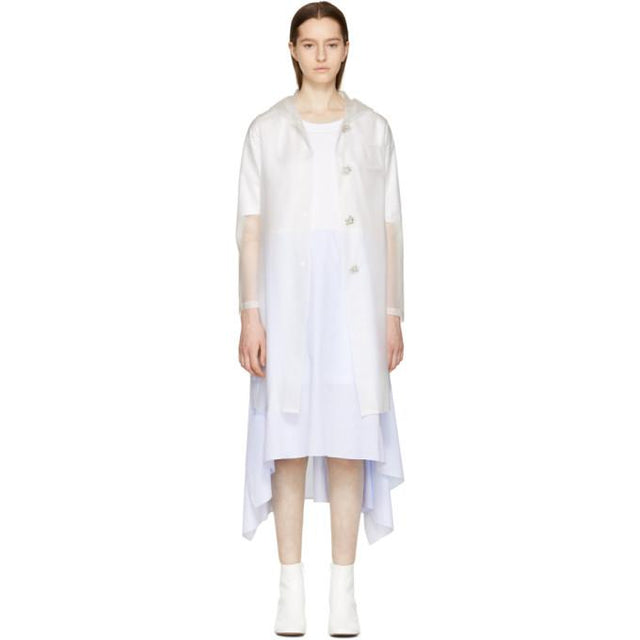 MM6 Maison Martin Margiela Transparent Plastic Raincoat-Jackets & Coats-BLACKSKINNY.COM