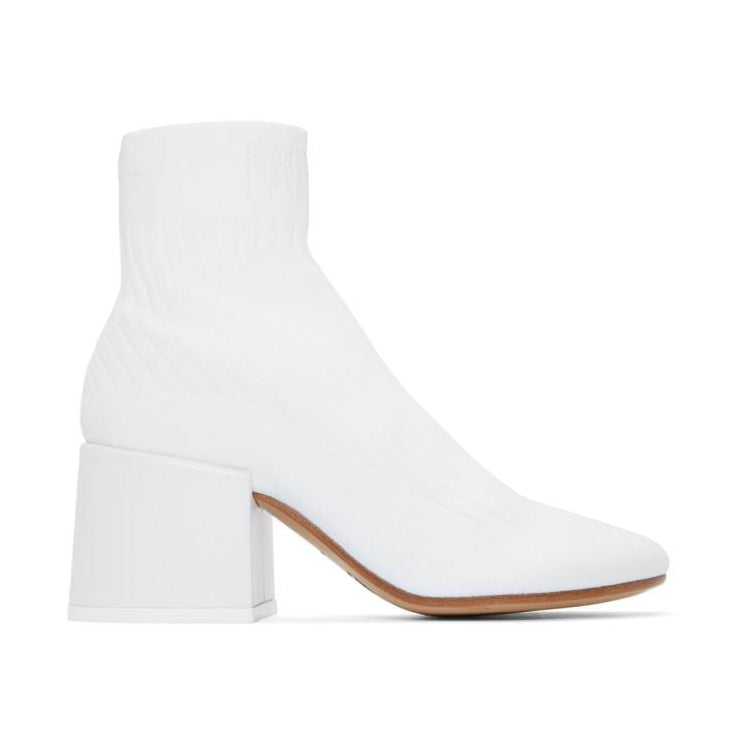 MM6 Maison Martin Margiela White Sock Ankle Boots-BLACKSKINNY.COM
