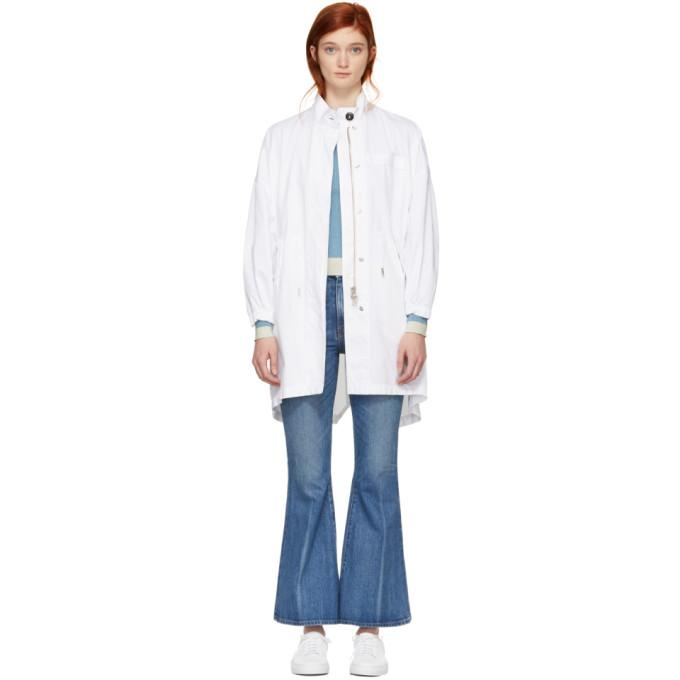 MM6 Maison Martin Margiela White Utility Coat-Jackets & Coats-BLACKSKINNY.COM