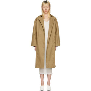 Moderne Tan Writer Trench Coat-BlackSkinny