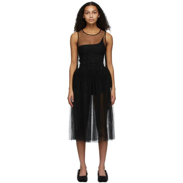 Molly Goddard Black Ally Dress