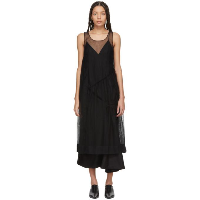 Molly Goddard Black Robyn Dress-BLACKSKINNY.COM
