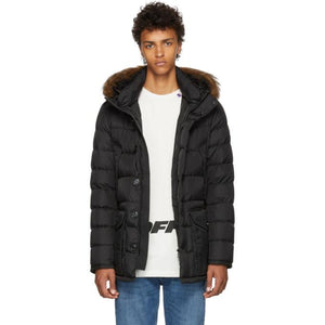 Moncler Black Cluny Down Coat-BlackSkinny