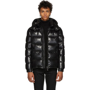 Moncler Black Down Maya Jacket-BlackSkinny
