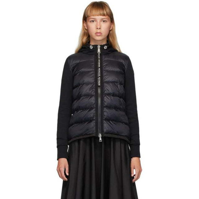 Moncler Black Down Panelled Jacket