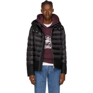 Moncler Black Down Riom Jacket-BlackSkinny